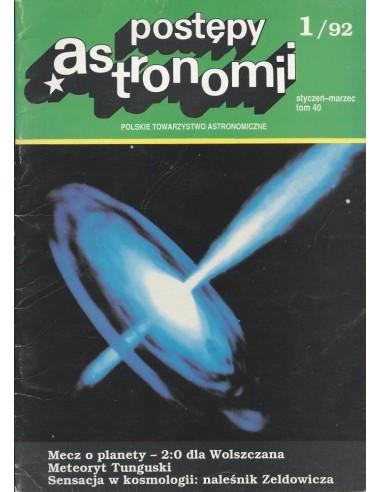 Postępy Astronomii nr 1/1992