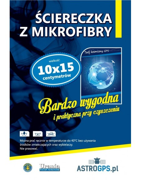 Ściereczka z mikrofibry - AstroGPS.pl (wygląd etykiety)