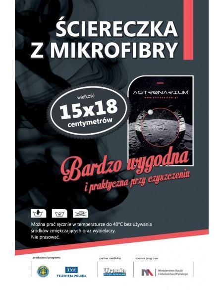 Ściereczka z mikrofibry - Astronarium (wygląd etykiety)