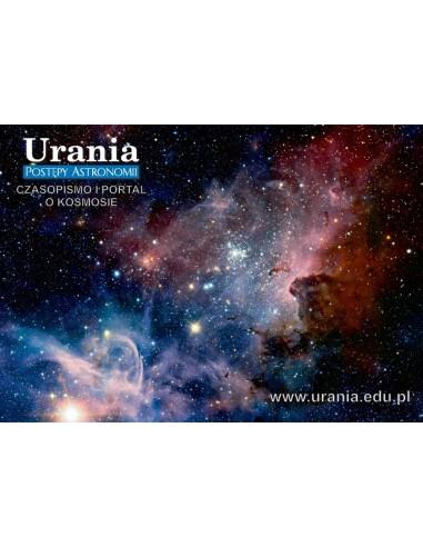Pocztówka Uranii - mgławica (awers)