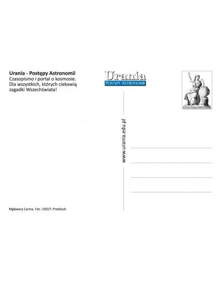 Pocztówka Uranii - mgławica (rewers)