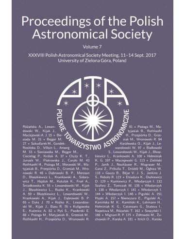 XXXVIII Polish Astronomical Society Meeting