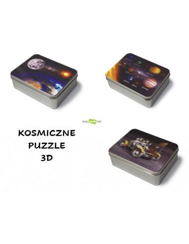 Zestaw kosmicznych puzzli 3D